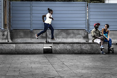 Jump, Baby, Jump! (Cristiano Drago) Tags: cristianodrago canon 650d jump jumper salto salta baby ragazza black nero nera africana african ilobsterit nationalgeographic street strada square piazza palermo