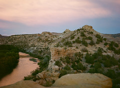 (lehibou_) Tags: mamiya 645e kodak 80mm f28 portra 400 sunset aztec new mexico nm animas river
