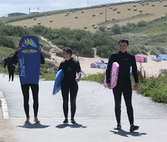 Back from body boarding (chrisw09) Tags: bodyboarding treyarnonbay cornwall wetsuits children fun sunshine