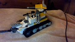 soon (Annoyed Zebra) Tags: lego tweepunk tank yellow inside indoors teaser soon