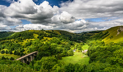 Monsal Head, July 2016 (johngregory250666) Tags: tree morning outside lane peak district uk derbyshire rural nature british countryside camera lens green yellow orange stone nikon nikkor hiking walking lines clouds sky blue moss lichen out brook glow grass imagesofengland amazing sunlight water light sun outdoor grassland field landscape hill trees plant serene forest moors ridge great national park mountain moor moorland dale cressbrook july new mountainside