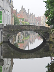 Bridge over untroubled water (Couldn't Call It Unexpected) Tags: bridge stream placid reflection belgium