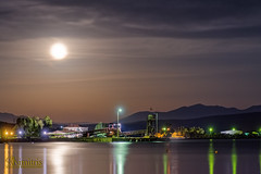 August Full Moon (dimitrismaggioris) Tags: nikond7100 tamron16300mmf3563diiivcpzd nightphotography sea evoia politikavillage oldfactory greece photostacking seashore port
