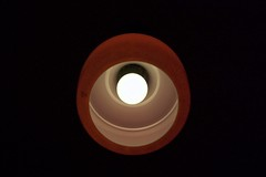 Cheshire Cat (Cozla) Tags: lamp lampe chandelier abstract abstractart minimal minimalistic simple less red rot perspective light design