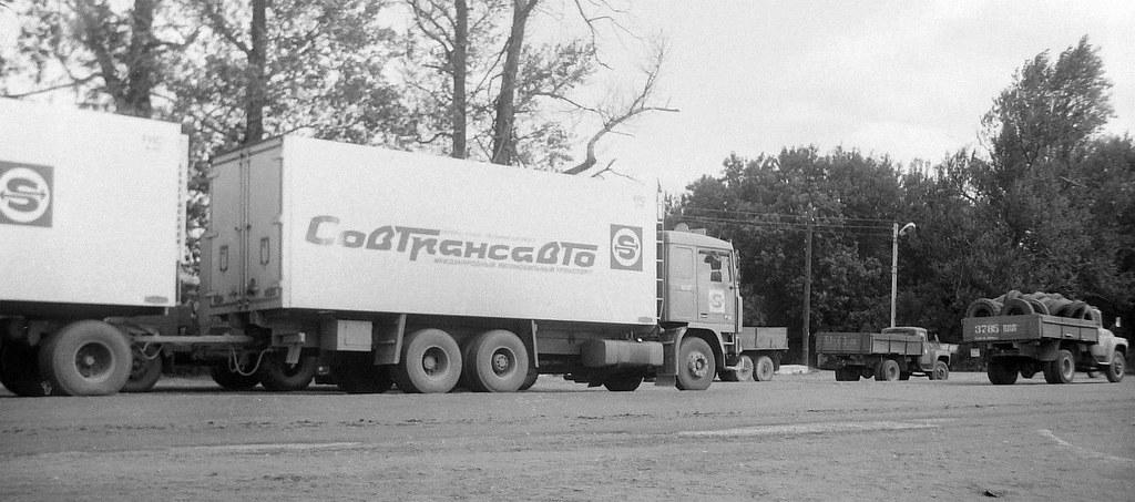 фото: Volvo F12 Truck & Drawbar Trailer