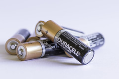 4/31: My batteries need recharging! (judi may - more off than on) Tags: october2016amonthin31pictures batteries stilllife tabletopphotography macro closeup canon7d white whitebackground highkey dof