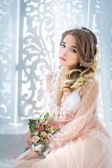 *** (TatianaAntoshina) Tags: portrait wedding bride bouquet tenderness people studio