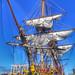 La fragata francesa L'Hermione en el muelle de Santa Catalina de Las Palmas de Gran Canaria