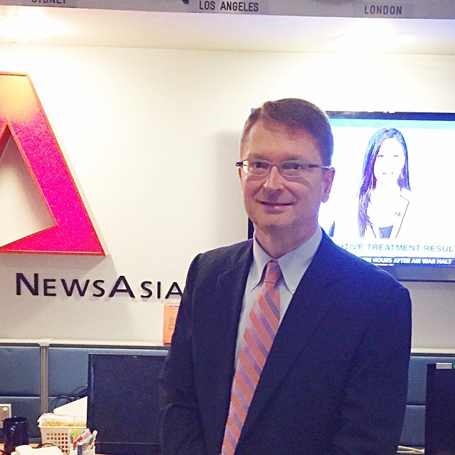 I was interviewed on CHANNEL NEWS ASIA TV this week by Julie Yoo (the on-screen lady behind me in this photo) regarding the significance of YouTubes 10th anniversary.