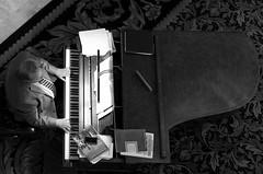 ascending scale (ANC'N'VA) Tags: bw music white man black hotel utah pentax piano grand saltlakecity slc pianist bwphoto playingmusic