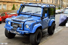 Land rover Defender 90 Glasgow 2015 (seifracing) Tags: road rescue cars scotland europe cops britain glasgow scottish police rover voiture vehicles land british van 90 spotting recovery strathclyde brigade defender ecosse 2015 seifracing