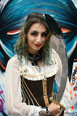 Pirate Graff ~ Lou Cat (Christopher Mark Perez) Tags: streetart paris france graffiti bellydancer graffitti corset bellydance graff ruedenoyez loucat sigma30mmf28exdne sonya6000