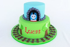 Thomas The Tank Engine (Irresistible Cakes) Tags: birthday cake train tank thomas railway superhero fondant enging