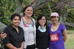 From the left Salina, Jo, Laxmi, and Anu