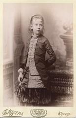 CAB Portrait of a girl - USA - c.1885 (Patrick Bradley 70) Tags: old portrait usa chicago girl vintage us unitedstates antique cab victorian cabinetcard steffens