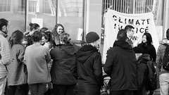 Occupied 04 (byronv2) Tags: street blackandwhite bw students monochrome sign blackwhite student edinburgh university candid politics banner protest environment edinburghuniversity oldtown climatechange occupied protesters peoplewatching finance occupation chambersstreet edimbourg fossilfuels fossilfuelprotest fossilfree charlesstewarthouse