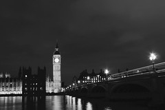 Westminister (updownmo) Tags: building architecture kitlens 1855mm moody vintage reflection shadow sky canon longexposure westminsterbridge houseofparliament europe bridge streetlight water viewers bw londoners creative viewpoint beautiful like inexplore exploring uk london westminister blackandwhite outdoor monochrome skyline river thames light cloud trail bigben clock parliament composition form lines shapes patterns arch curves historicalbuildings history londonphotography londonphoto