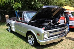 Carshow - Maggie Valley, NC (osubuckialum) Tags: 2016 carshow show maggievalley nc northcarolina mountains smokeymountains chevy chevrolet pickup truck silver black 1969 69 stepside shortbed c10 c10nationals