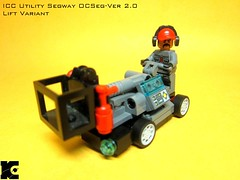 Utility Segway Lift Variant (icycruel) Tags: lego military utility charlie vehicles scifi segway outpost moc