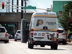 #pacersfanvan PASSION PRIDE PACERS (kennethkonica) Tags: summer usa color car america canon midwest traffic random indianapolis july indy indiana vehicles van global hoosiers canonpowershot marioncounty fanvan kennethkonica