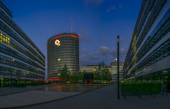 Vodafone Campus Dsseldorf - HDR Panorama (stefanfricke) Tags: vodafone campus dsseldorf bluehour panorama hdr sony ilce6000 a6000