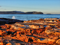 Sunset on stone I (elphweb) Tags: hdr ocean sea seaside sunset rocks