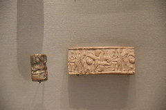 Stone Cylinder Seal from Archaic Period of Sumer, 2900-2340 BC (Gary Lee Todd, Ph.D.) Tags: france louvre paris ancient neareast