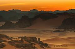 Sunset at the Algerian Sahara. (Yacine Toumache) Tags: algeria africa  sun yoga dusk sunset nature mountain meditation landscape desert sahara
