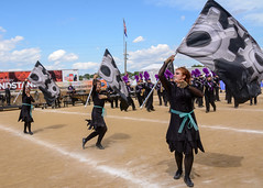 Hagerstown at 2016 State Fair Band Day (WayNet.org) Tags: bandday hagerstown indiana indianastatefair indianapolis nettlecreek statefair tigers band colorguard grandstand marchingband track
