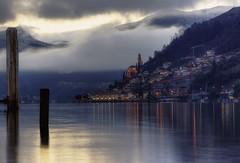 Winter evening... (Alex Switzerland) Tags: morcote landscape paesaggio ticino switzerland svizzera schweiz see lake lugano luganese inverno winter canon eos 6d ceresio