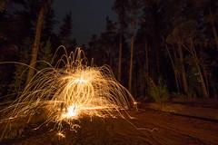 Steel Orb (Astronomy*Domine) Tags: steel wool spin orange baden powel lane poole perth dwellingup westernaustralia forrest night nightscape sparks lightpainting samyang 14mm canon 6d