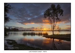 Lake Monger Sunset (JChipchase) Tags: lakemonger perth australia nikon d750 water