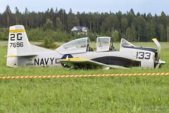 N428B North American T-28B Trojan, EFJM, Finland (Aviation & Vehicle Pictures) Tags: n428b north american t28b trojan efjm jmijrvi finland emergency crash navy usaf