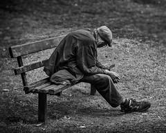 man alseep on a bench (Daz Smith) Tags: park city uk sleeping portrait people urban blackandwhite bw man streets blancoynegro monochrome canon bench blackwhite bath sleep candid homeless citylife thecity streetphotography sat canon6d dazsmith