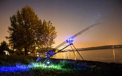 Fishing Day from Pietrafitta Lake (salvogualato) Tags: lake fishing umbria pietrafitta sky astrophotography stars star skyporn night water magic blue longexposure