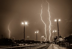 mother natures fury (skeem125) Tags: lightning lightningstorm storm weather sepia amazing