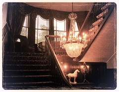 The Mansion at Valley Country Club (karma (Karen)) Tags: ruxton maryland baltimoreco mansions estates stairs lights chandeliers