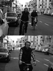 [La Mia Citt][Pedala] (Urca) Tags: milano italia 2016 bicicletta pedalare ciclista ritrattostradale portrait dittico bike bicycle biancoenero blackandwhite bn bw 872122 nikondigitale mir
