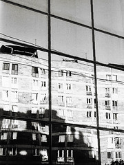 (hasmik.hakobyan) Tags: windows sky blackandwhite shadow reflection monochrome outdoor building