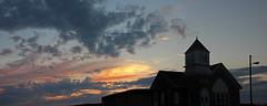 Harmony Church (v seger) Tags: indiana sunset harmony church summer gloaming landscape panorama