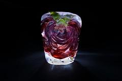 Frozen (redy1966) Tags: 2016 frozen deep freezer rose cut through schnitt schnittbild flower ice red