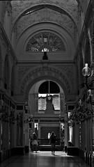 2 - Nantes Passage Pommeray (melina1965) Tags: pays de loire loireatlantique nantes juillet july 2016 nikon d80 noiretblanc blackandwhite bw sculpture sculptures fentre fentres window windows balcon balcons balcony balconies
