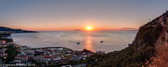 Sunset on the Sea (2) (Francesco_Grillo) Tags: dusk sunset evening afternoon goldenhour golden hour sea sun landscape cityscape pianodisorrento meta sorrento campania italy europe canon eos 1000d eos1000d efs efs1855mm 1855mm summer summertime panorama stitch image composite editor ice