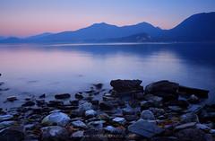 Lago Maggiore magic hour (chriskae94) Tags: lago maggiore italy sunset blue hour mountains hills lake long exposure red nikon d5300 1870 landscape seascape