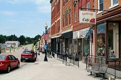 Main Street, Warren Illinois (Cragin Spring) Tags: mainstreet illinois il midwest building cafe sign sidewalk northernillinois warren warrenillinois warrenil unitedstates usa unitedstatesofamerica