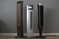 Tower fan group (yourbestdigs) Tags: fan tower stand floor flow rotation digital gray vent wind speed background switch simulate isolated electric remote white summer vertical circulation cool control infrared breeze button