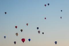 Evening Launch (*Hairbear) Tags: blue floating launch fiesta bristol sky summer balloon balloons