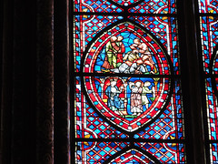 Stained glass windows (chrisdingsdale) Tags: stained painted colors glass bible stories panel art medieval paris france europe church religion religious catholic christian ffrance