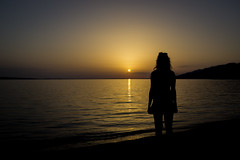 Sunset lady (Dino Barsic) Tags: beach sunset lady girl shadows silhouette seaside tropical view magical relaxing beautiful sea shore cover croatia europe balkan mediterranean water horizon sun outdoor calm