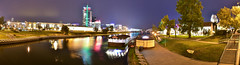 Minsk by Night (free3yourmind) Tags:    minsk nemiga belarus river city lights view boat center panorama panoramic